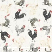 Free Range Fresh - Chicken Toss Cream Yardage