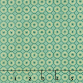 Liberty Star - Dotted Star Hexies Aqua Yardage
