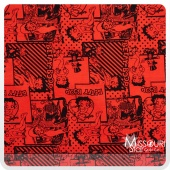 Betty Boop - Retro Scenes Red Yardage