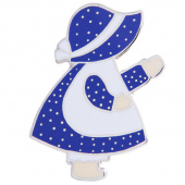 Sunbonnet Sue Pin - Blue