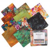 Dreamscapes II Black Digitally Printed Fat Quarter Bundle