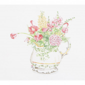 Susan Branch Pitcher of Garden Flowers Digitally Printed Panel