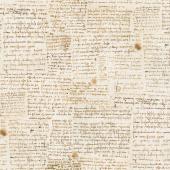 Leonardo Da Vinci - Writing Antique Digitally Printed Yardage