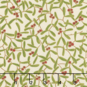 Cardinal Song Metallic - Mistletoe Ivory Yardage