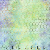 Tonga Batiks - Dragonfly Water Color Circles Dream Yardage