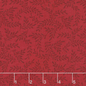 Wilmington Essentials - Red Carpet Sprigs Red on Red Yardage
