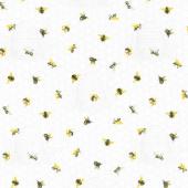 Chelsea - Beehive & Bees White Multi Yardage