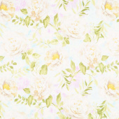 Wild Blush - Peonies White Yardage