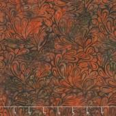 Elk Lodge Batiks - Rust Leaves Yardage
