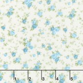Cassandra - Tossed Flowers Sky Yardage