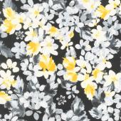 Limoncello - Bouquet Black Pearlized Yardage