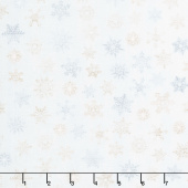 Snow is Falling - Rustic Snowflakes Cream Yardage