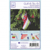 Holiday Stocking Quilt As You Go Preprinted Batting