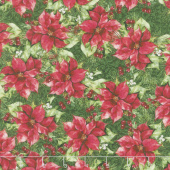A Poinsettia Winter - Poinsettias Red Yardage