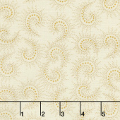 Butter Churn Basics - Spiked Paisley Cream Yardage
