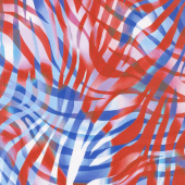 "Zebra Skins - Patriotic Digitally Printed 108"" Wide Backing"