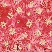 Artisan Batiks - Northwoods 6 Berry Sprigs Cranberry Metallic Yardage