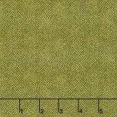 Woolies Flannel - Herringbone Green Yardage