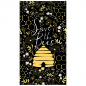 Save the Bees - Bee Black Panel