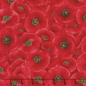 Tuscan Poppies - Packed Poppies Red Yardage