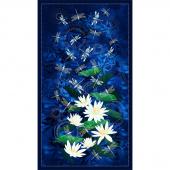 Moonlight Serenade - Dragonfly Indigo Metallic Panel