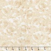 Garden Rose - Packed Shadow Roses Cream Yardage