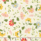 Clover Hollow - Meadow Blooms Ivory Yardage