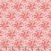 Sweet Sixteen - Fern on Texture Red Yardage