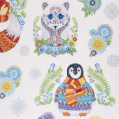 Arctic Wonderland - Large Animals White Yardage