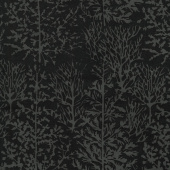 Black Beauty Batiks - Tree Black and Gray Yardage