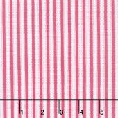 Kindred Spirits: Anne of Green Gables - Ticking Stripe Pink Yardage