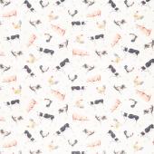 Farmhouse Chic - Animals Cream Yardage