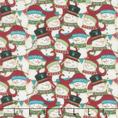 Holly Jolly Christmas - Packed Snowman Yardage