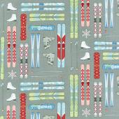 Winter Games - Skis Grey Yardage