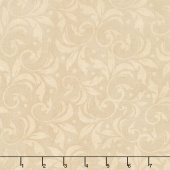 "Wilmington Essentials - Vintage Scroll Tan 108"" Backing"