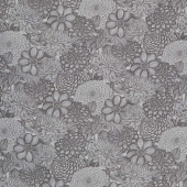 "Wilmington Essentials - Floral Toile Dark Gray 108"" Wide Backing"