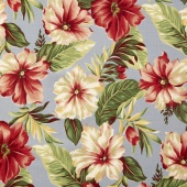 Collection for a Cause - Sunshine - Hibiscus Flower Steel Yardage