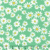 Painted Garden - Daisies For Days Jade Yardage