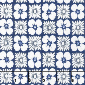 Feed Sacks: True Blue - Flower Power Navy Yardage