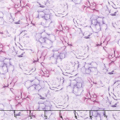 Humming Along - Succulents Purple Yardage