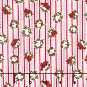 Merry, Berry, and Bright - Winter Wreathes Radiant Noel Metallic Yardage