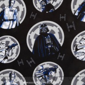 Star Wars: Rogue One - Imperial Circles Multi Flannel Yardage