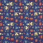 The Berry Best - Words Allover Navy Yardage