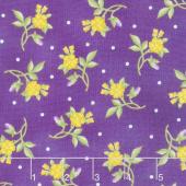 Emma's Garden - Little Flowers Violet Red Yardage