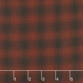 Itty Bitty - Small Plaid Red Yarn Dye Yardage