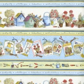 Garden Gate - Wide Stripe Cream Yardage