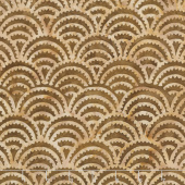 Clockworks Batiks - Ogee Spikes Spicy Mustard Yardage