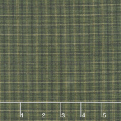 Helping Hands - Plaid Green Yarn Dye Yardage
