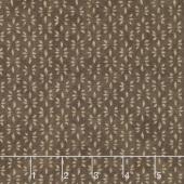 Prairie Grass - Leaf Print Cattail Yardage