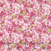 Amorette - Packed Floral Pink Yardage
